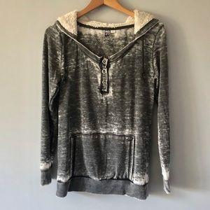 Roxy Charcoal Gray Sweatshirt Size Large